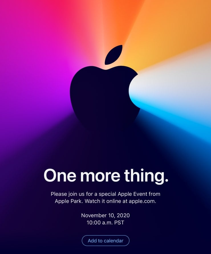 Apple's November 10th event