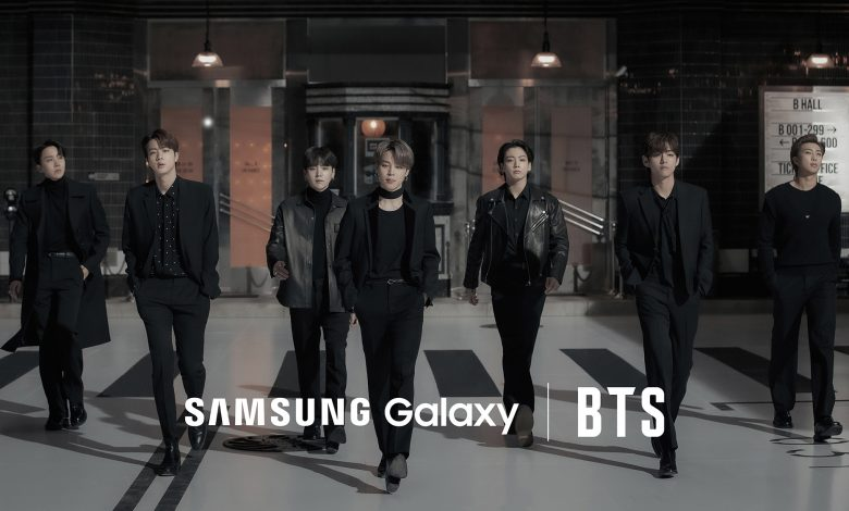 Samsung Galaxy S21 and BTS