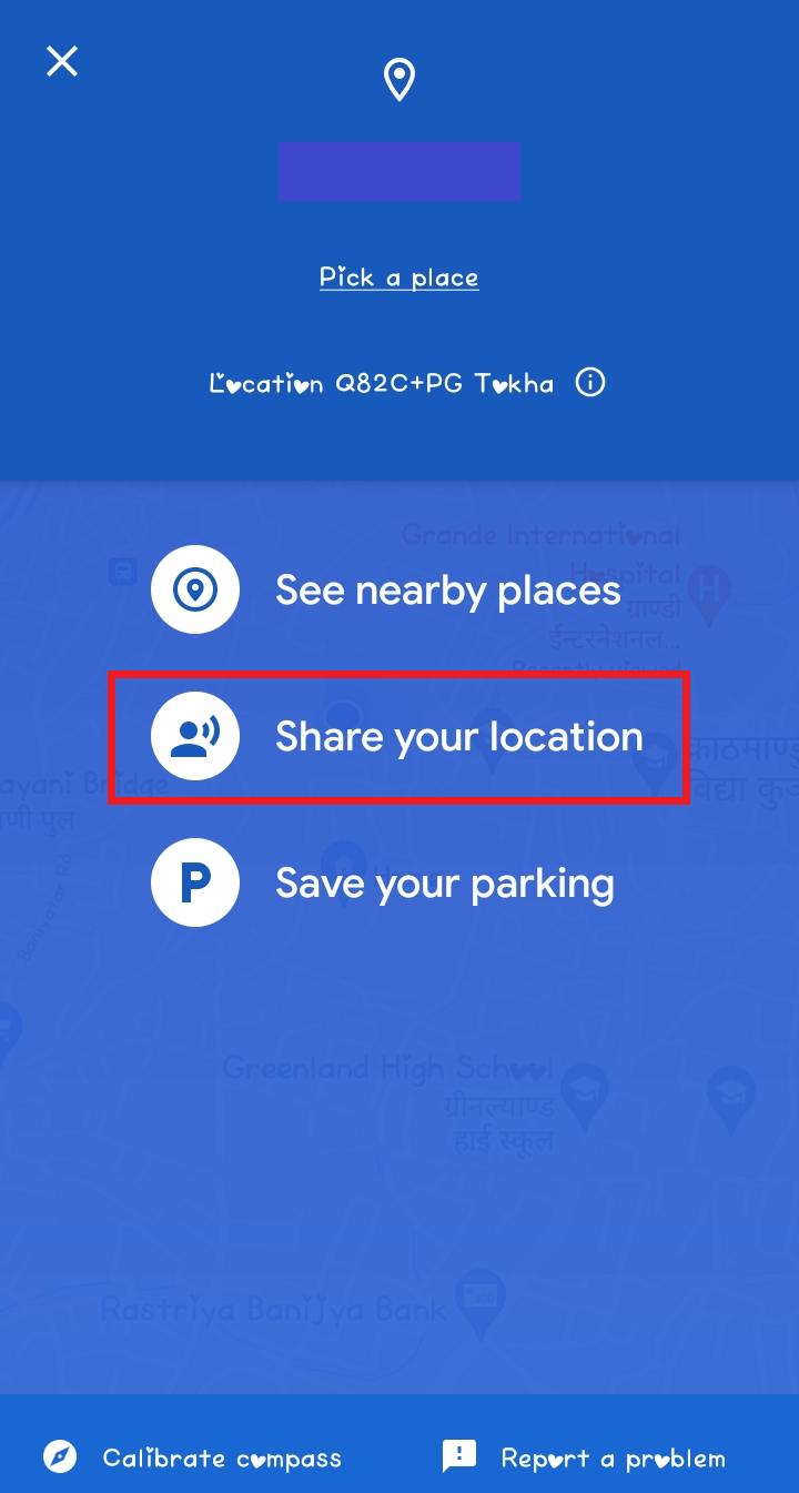 Location sharing google maps