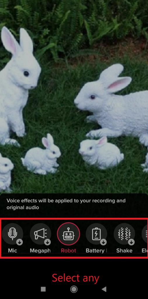 add voice effect on tiktok