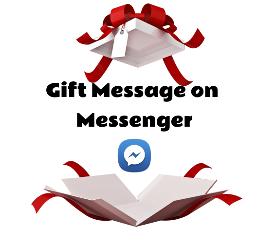 how to send gift message on messenger